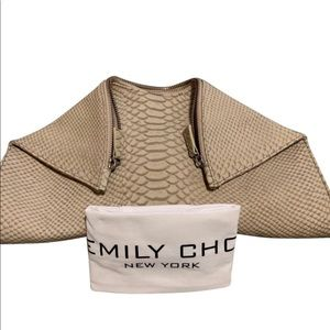 Emily Cho Medium Folded Clutch - Beige